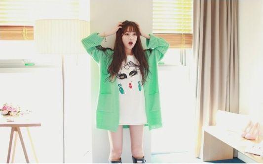 59c147078 2015 printemps nouveau femmes coréenne version de la longue section  chandail de couleur unie de grands chantiers en vrac cardigan en maille  fraîche