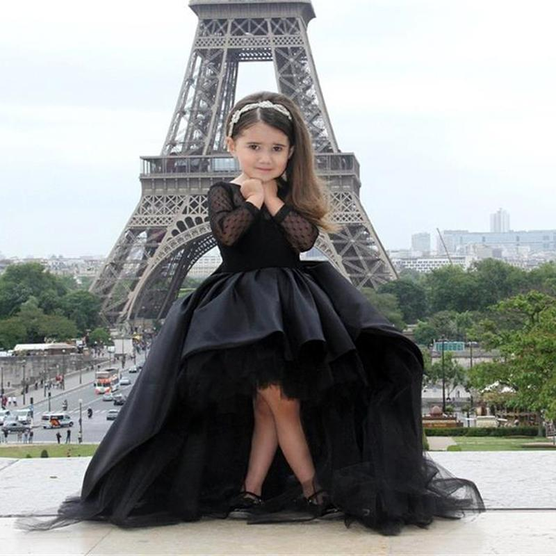 France New Designer Flower Girl Dresses Long Sleeves