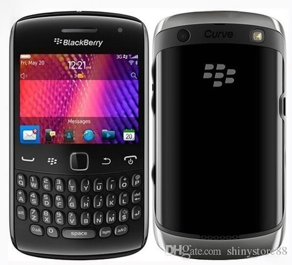 Оригинальная кривая Apollo Blackberry 9360 мобильный телефон 5.0 MP камера GPS WiFi Bluetooth 512 МБ оперативной памяти BlackBerry OS отремонтированы разблокирован сотовый телефон