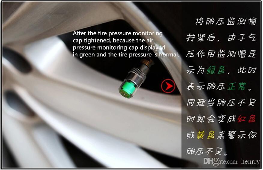 Otomobil Lastiği Basıncı 2.4 Bar 36 PSI Tpms Aracı Uyarısı DHL İzleme Hava Uyarısı Lastik Vana kapağı Araç Lastik Basıncı