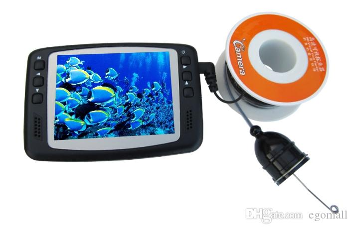 30M UnderWater Fischen-Kamera 8 IR LED CCTV-Kamera mit 3,5-Zoll-Farbmonitor Fisch Finder Night Vision