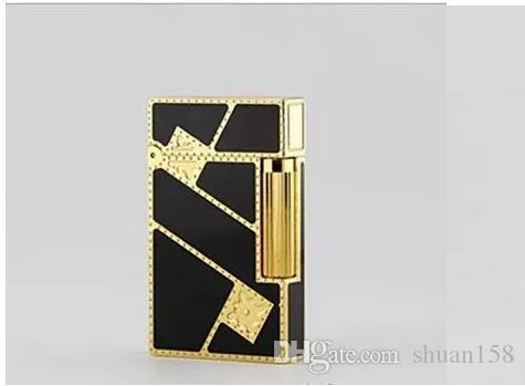 STD upont lighter bought whole copper say Chinese lacquer and gilded diagonal fortune 16886