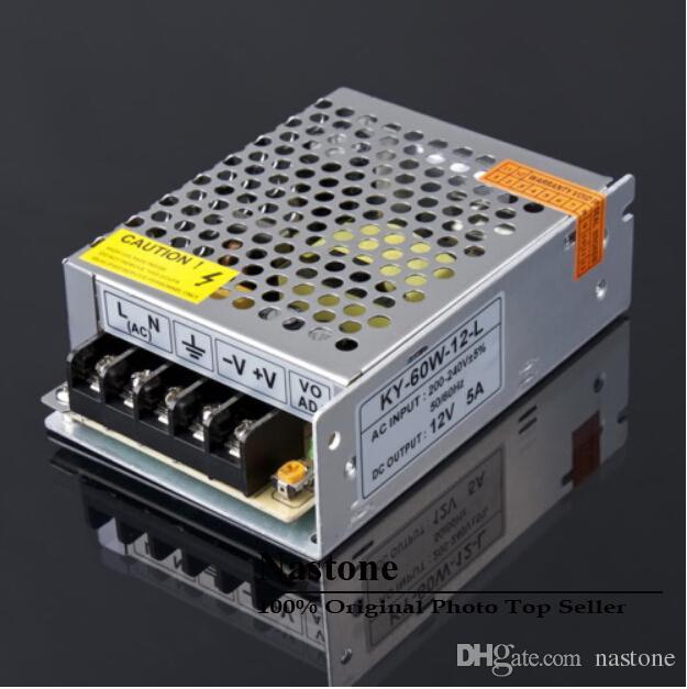 1 stks 12v 5A 60W Nieuwe schakelaarsschakelaar voeding voor LED Strip Light Lights