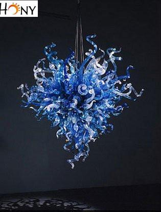 Modern Blue House Italian Design Modern Murano Glass Chandelier Lighting