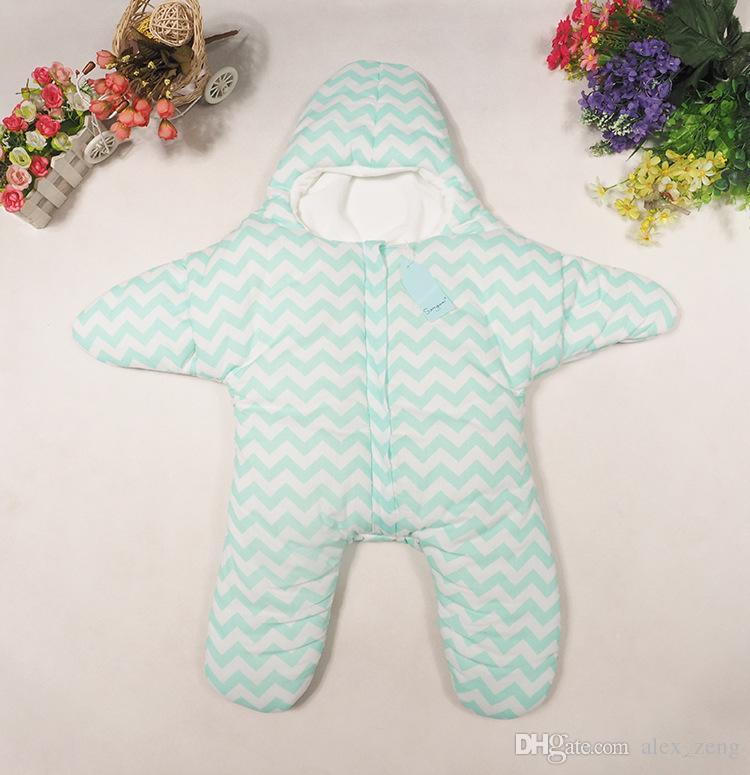 불가사리 퀼트 아기 침낭 겨울 두꺼운 부분 면화 아기 침낭 따뜻한 아기 슬리핑 슬리핑 백 유아용면 가방