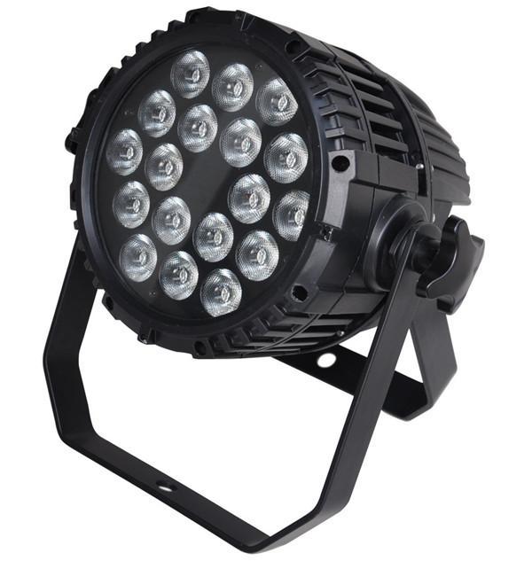 Freies verschiffen Zwei jahre garantie 18X15 Watt Stille IP65 Wasserdichte RGBAW 5in1 LED Par Licht Outdoor LED Par Lampe