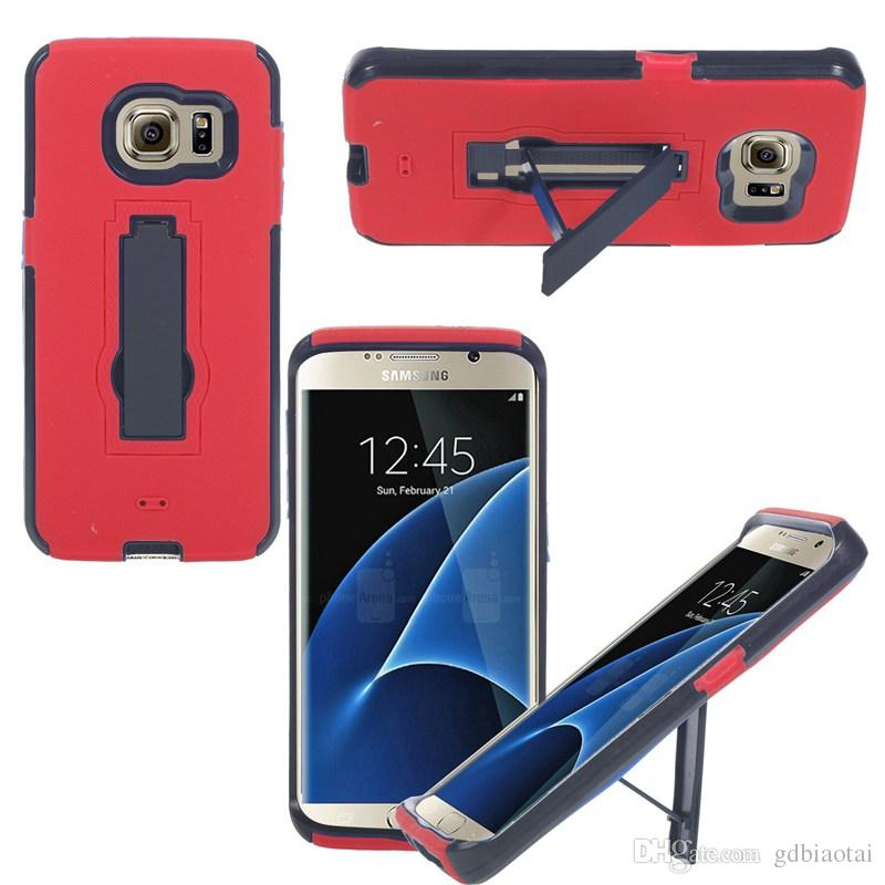 Newest Hot Sale High Quality Heavy Duty For Samsung S7 Edge Cell Phone Case Silicone+PC Shockproof With Retail Packing