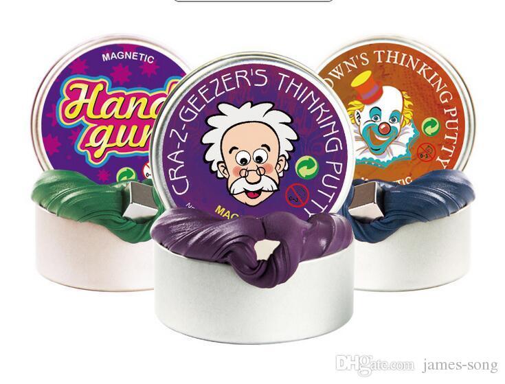 Slime Torta De Lama De Borracha Magnética Forte Plasticine Engraçado Putty Magneti Argila Jumping Ímãs Novidade Brinquedos jogos para Crianças