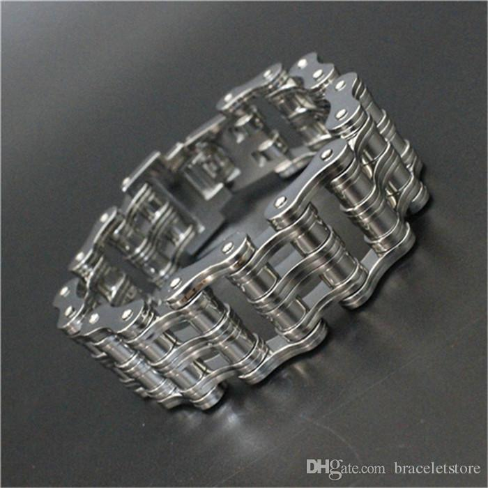 Newest Design Bicycle Huge Silver Bracelet 316L Stainless Steel Cool Man Biker Style Popular Bracelet