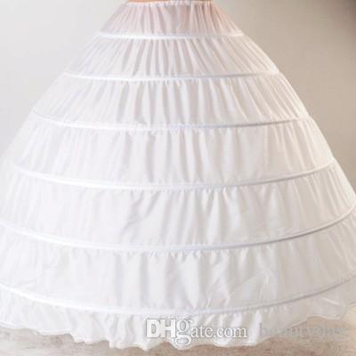 6 Hoop Petticoat Balo Elbise Düğün Aksesuarları Için Quinceanera Elbiseler Kırmızı Siyah Beyaz 110-120 cm Çapı Iç Çamaşırı Kabarık Etek
