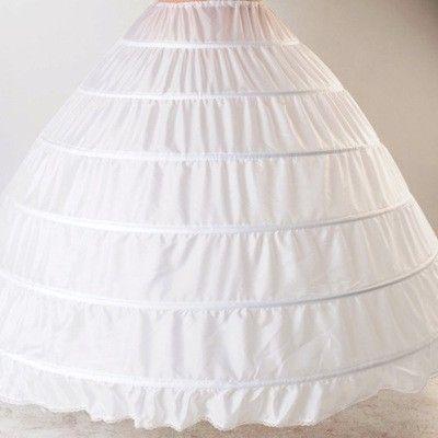 6 Hoop Petticoat For Ball Gown Dress Wedding Accessories Quinceanera Dresses Red Black White 110-120cm Diameter Underwear Crinoline