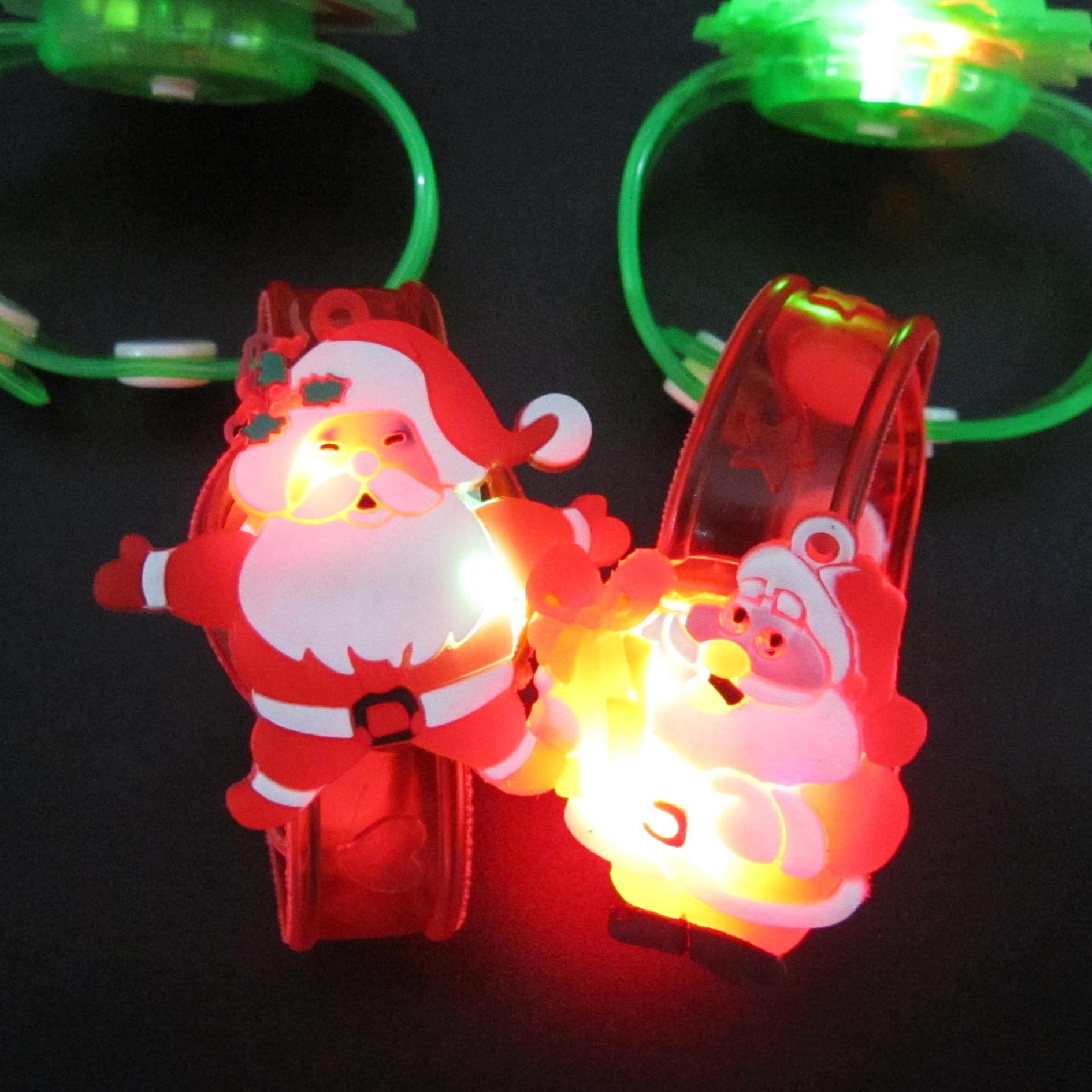 2018 Watch Colorful Christmas Night Light A Light Flash Color