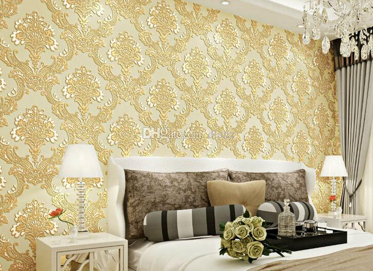 New 10 Meter3d Stereo Luxury Traditional Europe Style Wallpaper Home ...