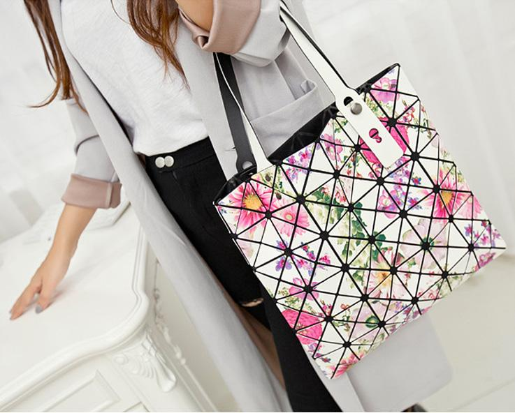 Handbags Large Tote Bags Fashioned For Women Colorful Geometric ...