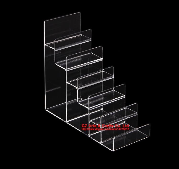 Trasparente multi strato nero Acrilico Scaffale Portafoglio Espositore Borsa Mobile Phone Shell Rack Holder