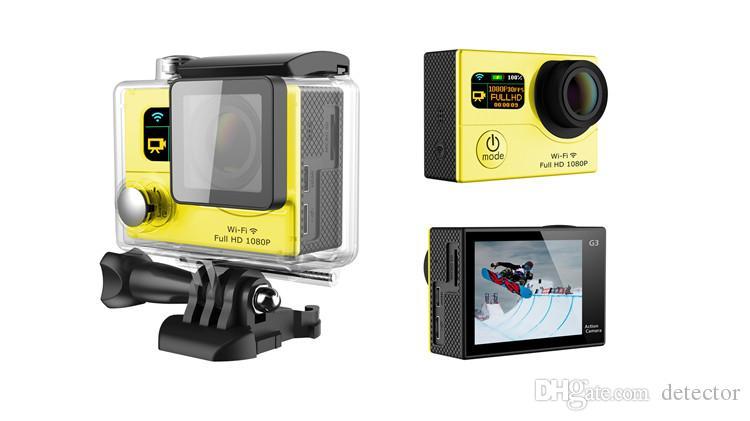 Caméra d'action Wifi Wifi 3 de style double écran 1080P FHD Sport DV DVR G3 étanche 30M 170 grand angle 12MP