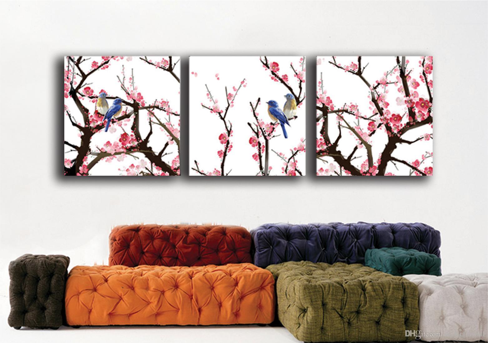 3 шт. В комплект декоративное искусство без рамки гостиная диван фон настенная живопись декор творческий мода искусство стикер стены термоаппликации