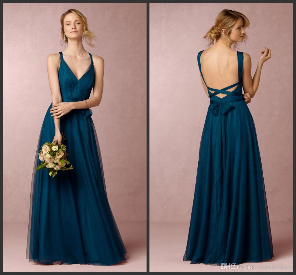 Sapphire tulle long bridesmaid dresses zaria 2016 unique sapphire tulle long bridesmaid dresses zaria 2016 unique changeable straps backless a line maid of honor gowns vc custom floor length silk bridesmaid ombrellifo Image collections