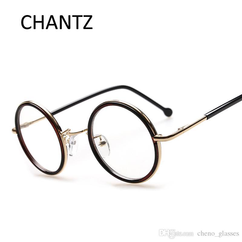 ee97905e79465f Acheter Rétro Vintage Lunettes Rondes Cadre Marque Designer Mode Cercle  Lunettes Élégant Optique Cadre Oculos De Grau Redondo De  162.44 Du  Cheno glasses ...