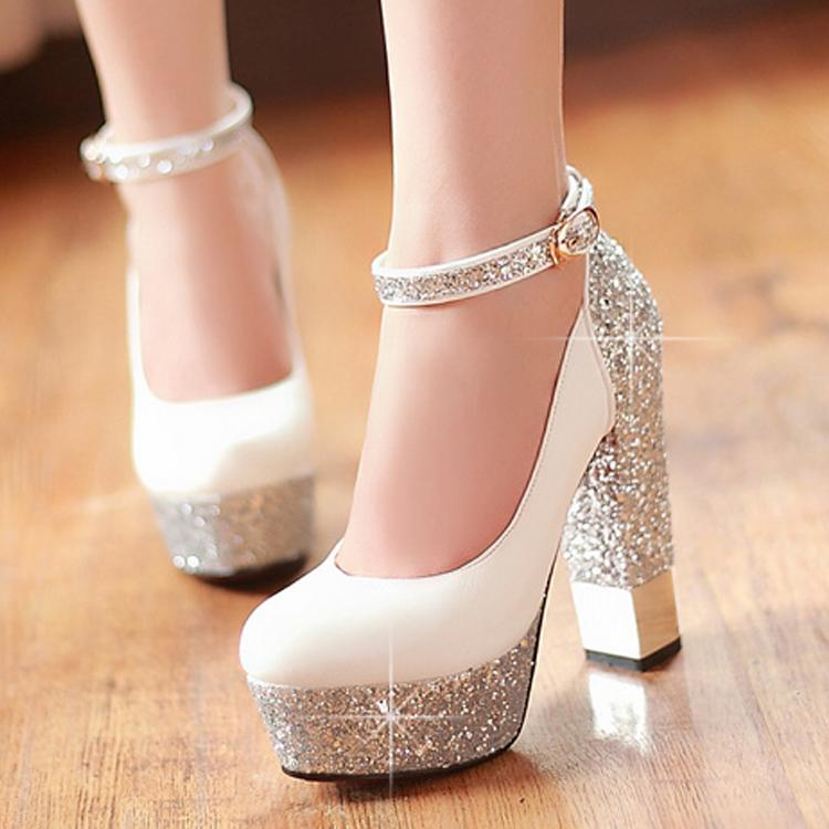 During The Spring And Autumn Shoes White Bride Shoes