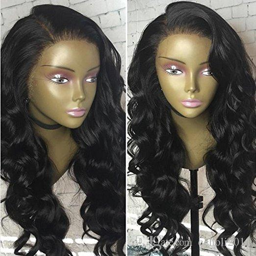 Side bang body Wave 360 Lace Frontal Wig 180% Density full lace band human hair wigs for black women pre plucked natural hairline