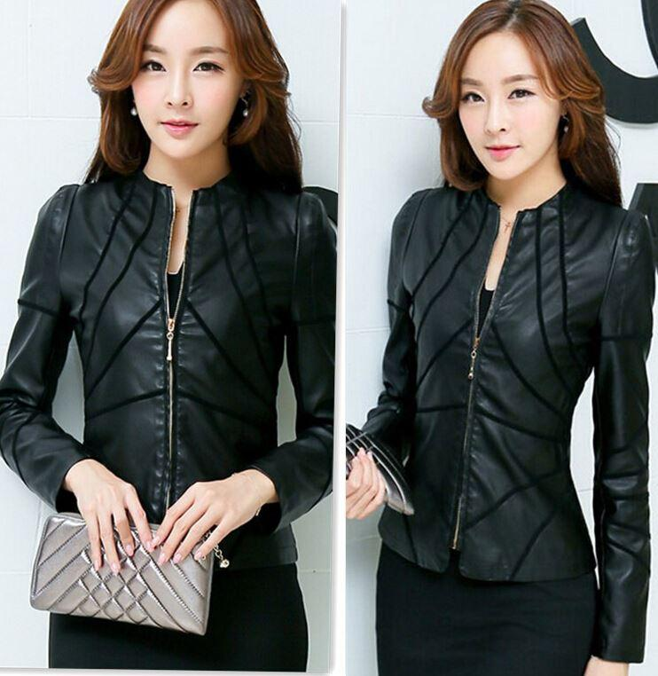 Black Leather Jackets Women Plus Size M 5xl Leather Coats Female ...