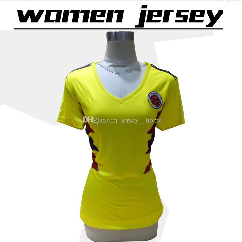 644435c9285 18 19 world cup women Colombia National Team Jersey Colombia Home yellow  girl Soccer Jerseys 2018 world cup  10 JAMES female Football Shirts