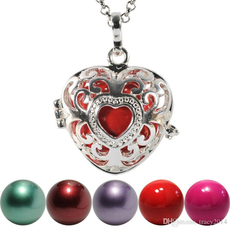 2016 Chimes Pregnancy Ball necklace Mexico Bola ball chain box Bell Necklace pendant Fetal education angel caller necklace 9 styles choose