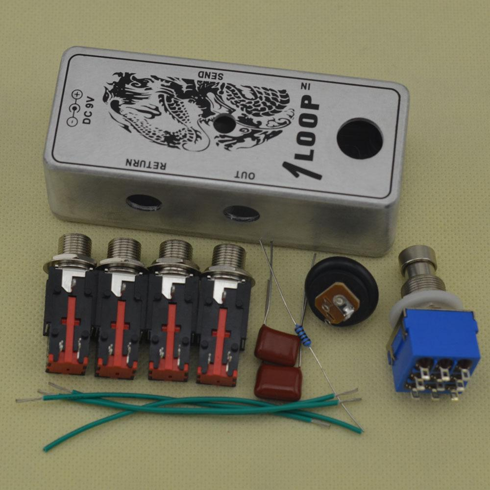 DIY True-Bypass Looper Effect Pedal Guitar Effect Pedal Looper Switcher  true bypass guitar pedal 1 Loop switch Aluminum Kits
