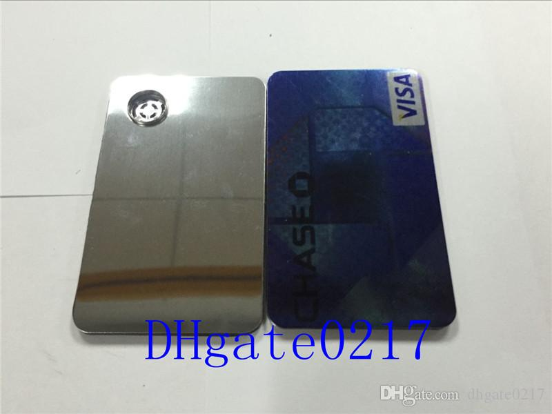 Carta di credito di alta qualità Smoking Tubi metallici fumatori Click Fun Metallo Magnetic Fit in Wallet Tubi di vetro argento spedizione gratuita