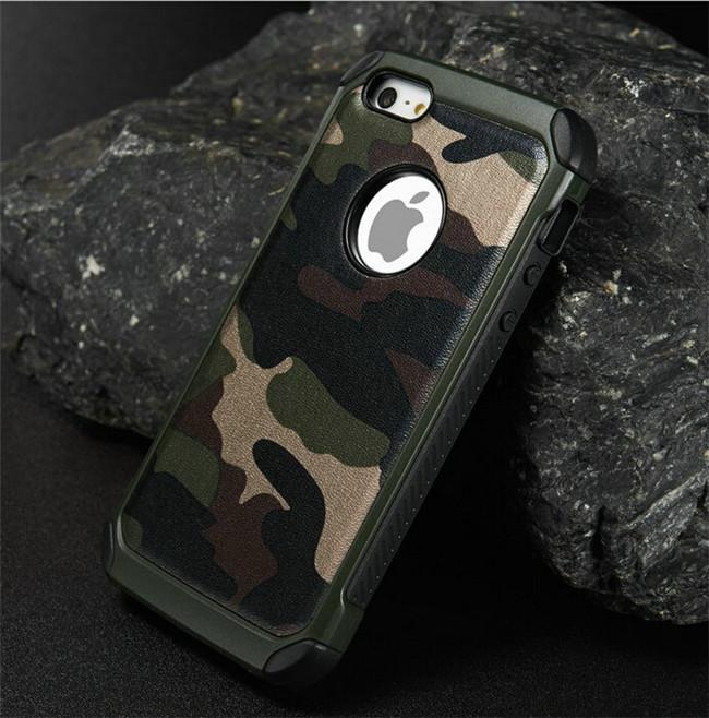 Per custodie per cellulari iphone 6 / 6s TPU + PC camo mimetico esercito 2 in 1 cover posteriore hybird per iphone6 ​​/ 6s / 6plus sumsung s6