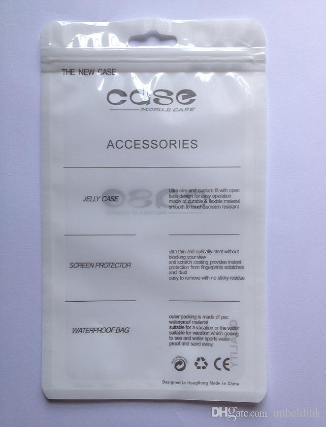 11 * 19 cm 100 sztuk Plastikowa Pakiet detaliczny Poly Zipper Blokada torba do pakowania pakowania na telefon komórkowy do telefonów komórkowych Opakowania