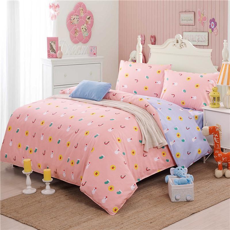 wholesale cartoon children bedding set emoji snowman socks pattern