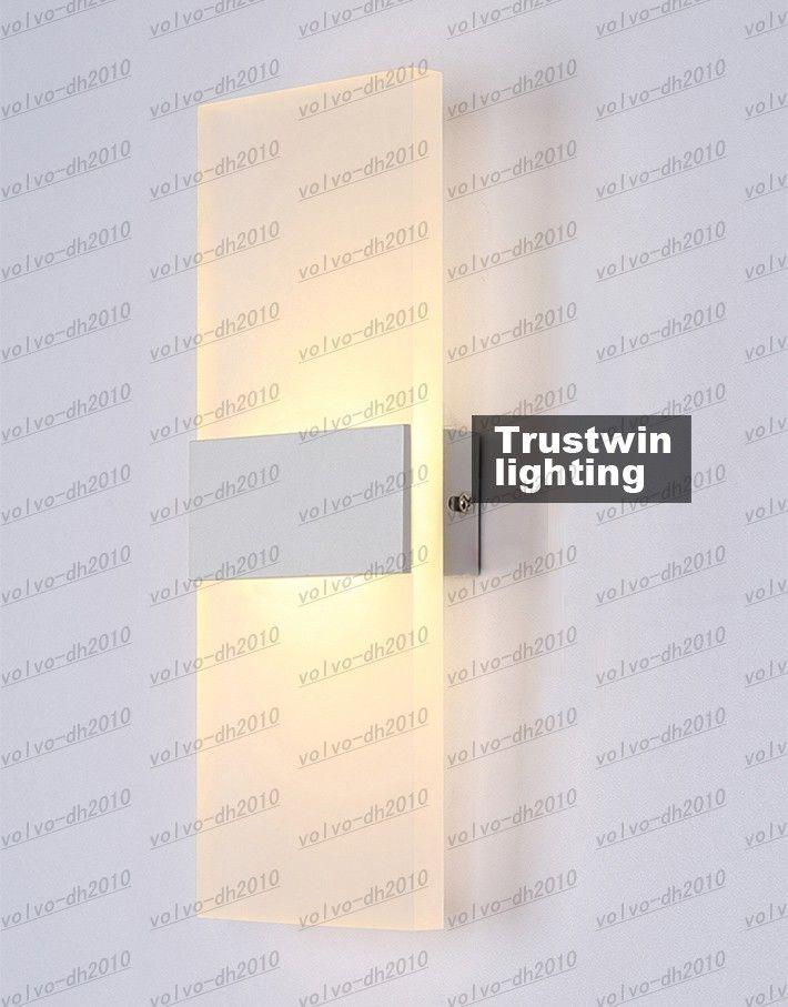 Nuovo LED Applique da parete in acrilico Living Sitting Room Foyer Camera da letto Illuminazione bagno LED Applique da parete quadrato LED Lampada da parete balcone Corridoio LLFA4805F