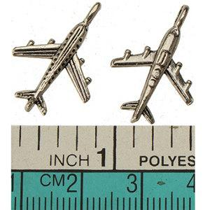 jewelry findings charms pendants bracelets necklaces retro silver 3d plane wholesales diy floating locket charms metal drop ship 23mm