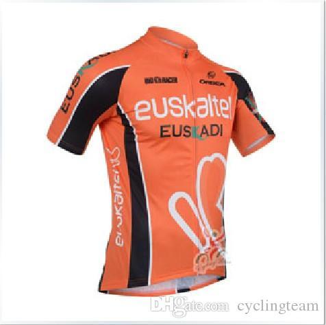Euskaltel euskadi Ciclismo Jersey mangas curtas Jersey Esportes Bicicleta Respirável Corrida Ciclismo Roupas Lycra GEL Pad Race MTB bicicleta