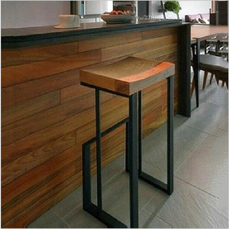 American Wood Retro Fashion To Do The Old Wrought Iron Bar Stools And  Chairs Casual Coffee Bar Stool High Chair Dinette Online With $228.33/Piece  On ...