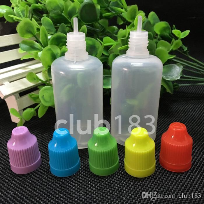 Schneller Versand Nadel Flasche aus Kunststoff Tropfflasche mit Kindersicherung Caps 50ML PE E Flüssigkeit Empty Bottle
