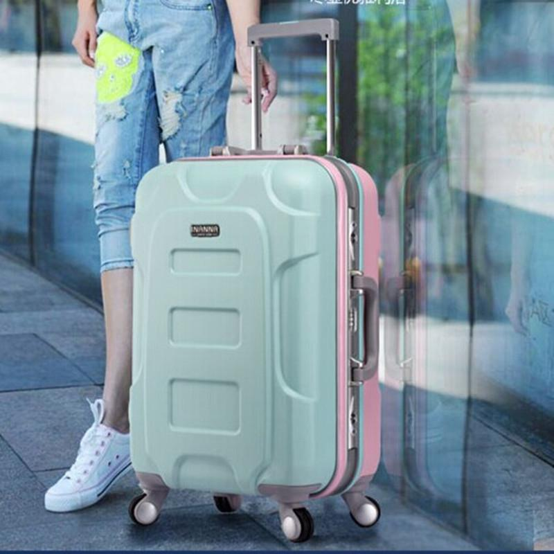 Women Bags Men Travel Bag Abs  Pp Trolley,Hardside Luggage,Travel ...