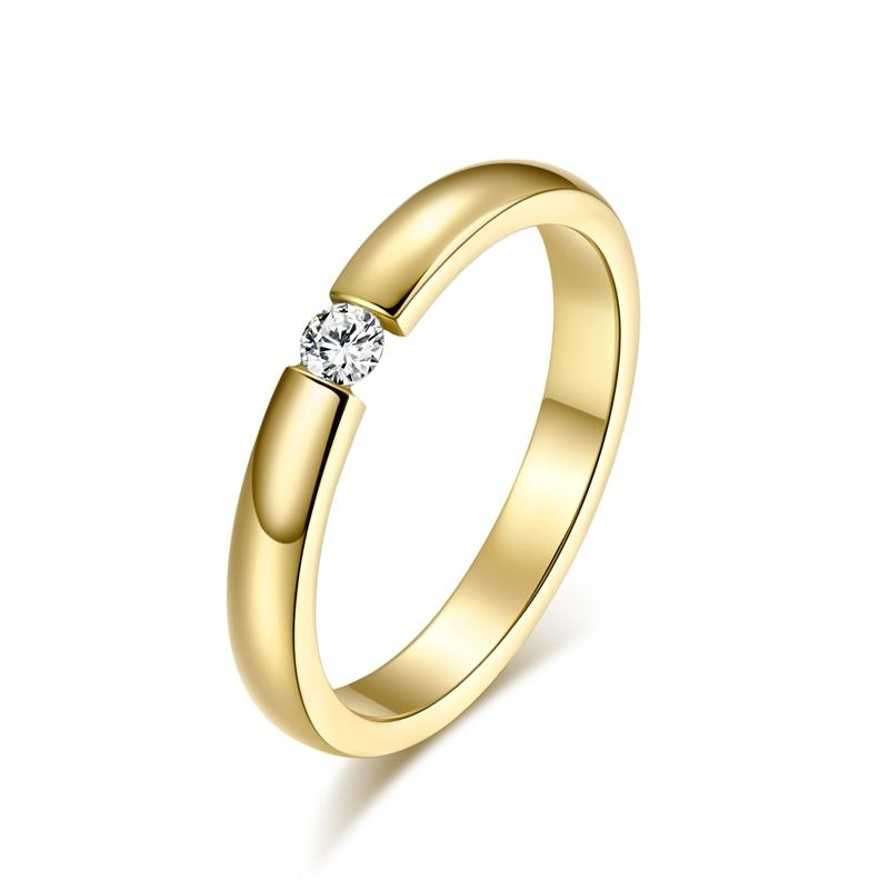2019 New 2016 Wedding Ring 18k Gold Filled Stainless Steel