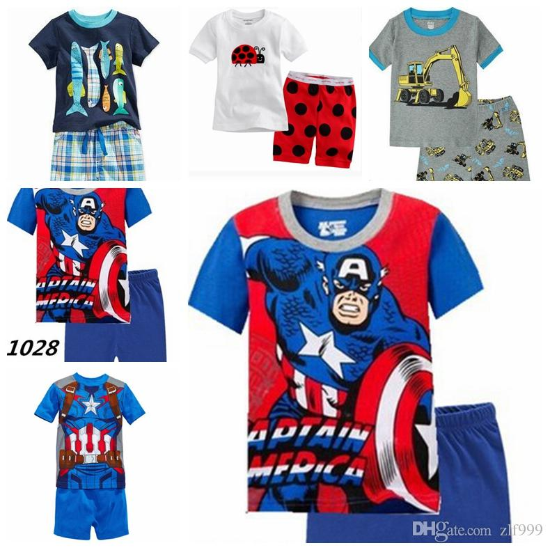 21c2640ce1 Fashion Summer Baby Boys Clothes Sports Pattern Suit Short Sleeve T ...