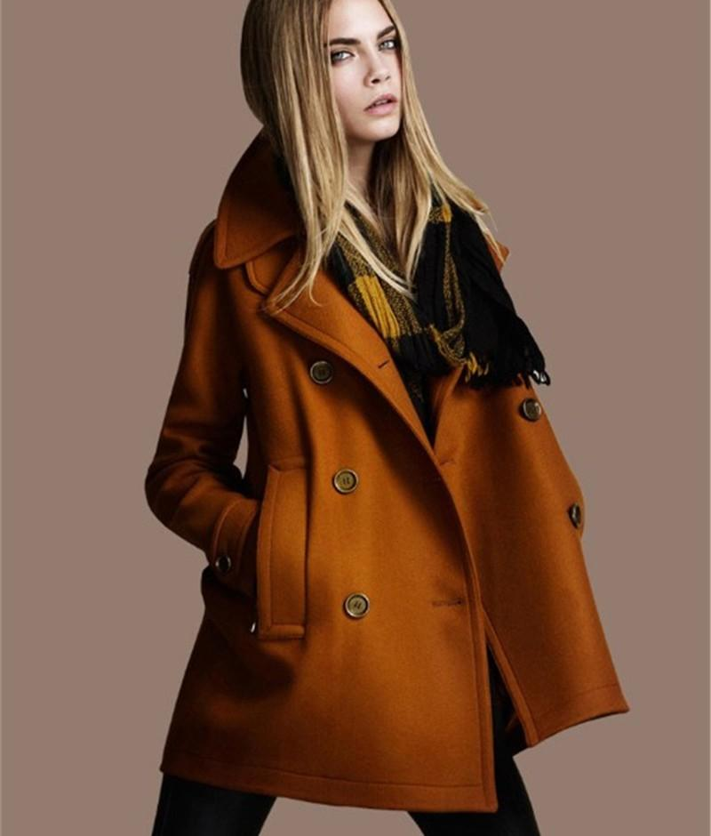 2017 Thicken Winter Wool Coat European American Style Double ...