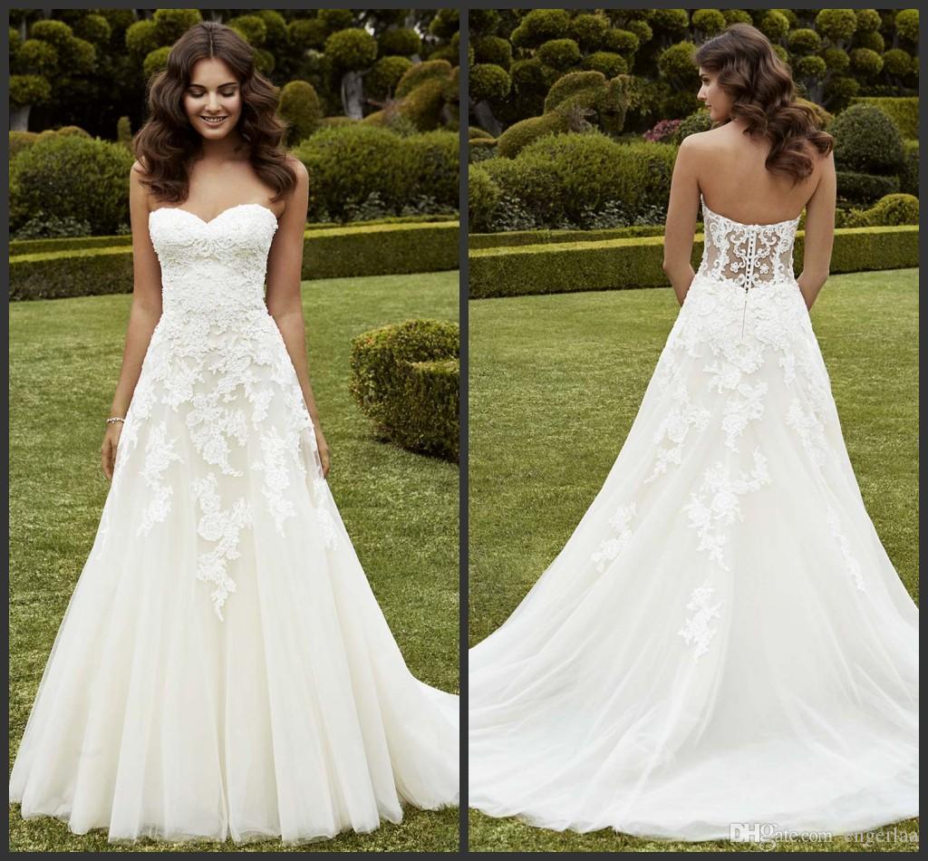 Großhandel Einfach Eine Linie Hochzeits Kleider Strapless ...