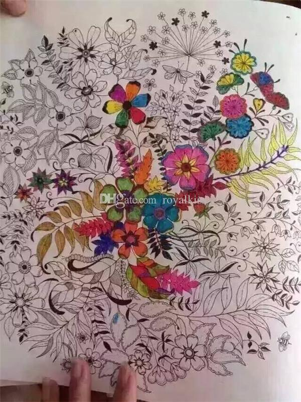 Mini Secret Garden Coloring Book Graffiti Drawing Best Gift For Children Learning Toy Books Pages From Royalkiss