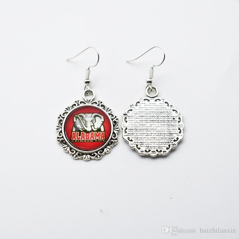 American University NCAA Alabama Elephant squadra sportiva gioielli fascino lega orecchini / orecchini gli appassionati di gioielli