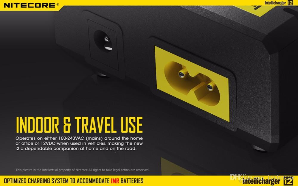 Подлинная Nitecore I2 Универсальное зарядное устройство для 16340 18650 14500 26650 аккумулятор E сигареты 2 в 1 Muliti функция Intellicharger код безопасности