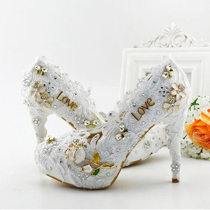 Cheap Block Heel Wedding Shoes Discount High Comfortable Platform Wedding  Shoes dc4622480f77