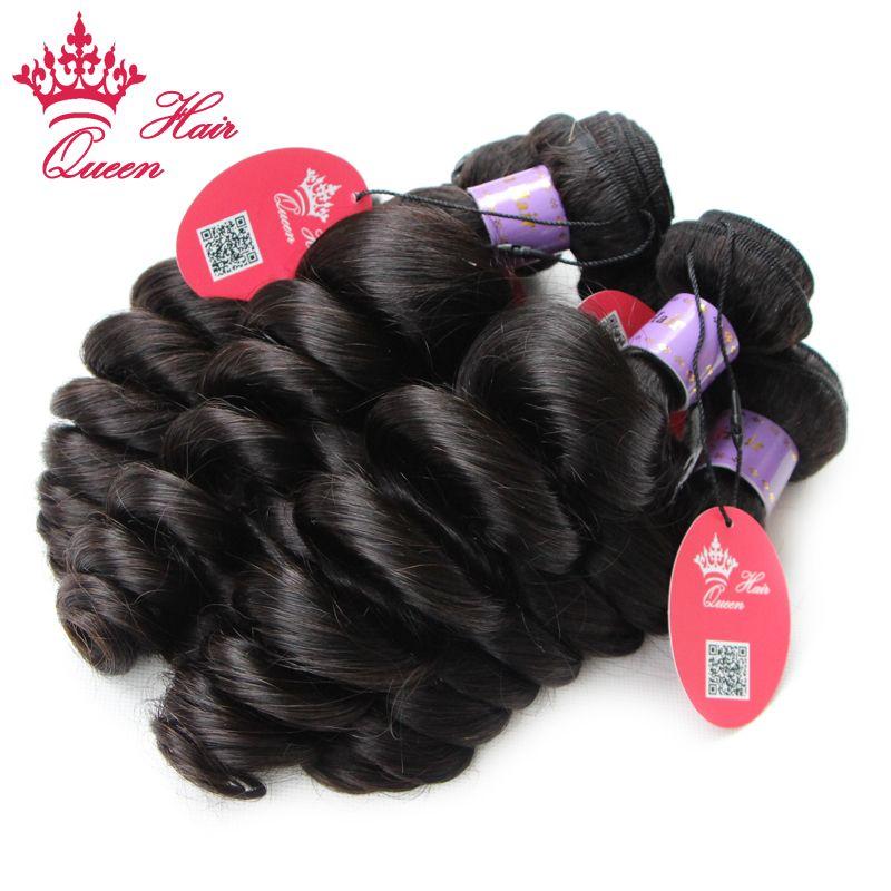 Queen Hair / Malaysiska Virgin Hair Loose Wave Billiga Obehandlat Queen Human Hair Weaves Malaysian Loose Wave