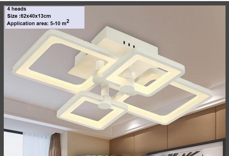 Led Light Modern Led luces de techo 110V 220V para sala de estar luminaria led Dormitorio accesorios Interior del hogar diciembre lámpara de techo