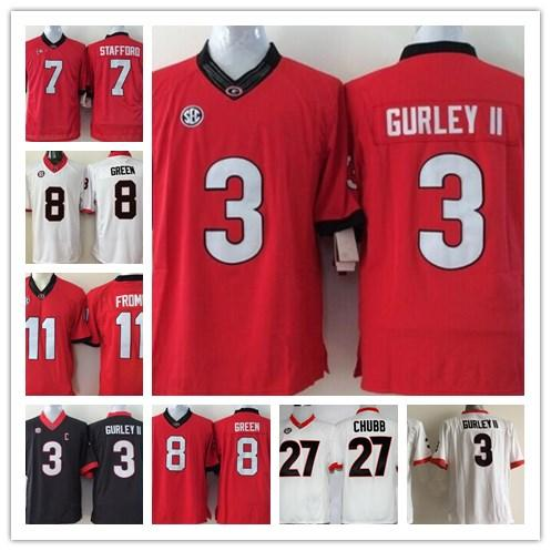 7184a08a532 2019 Men S 16 Kirby Smart Georgia Bulldogs 3 Todd Gurley II  8 A. J. Green   11 Jake Fromm College Sec Football Limited Stitched Jersey From Gamemen